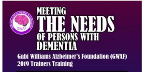 MEETING THE NEEDS OF PERSONS WITH DEMENTIA @ Victoria Island  Moorhouse Sofitel Hotel
