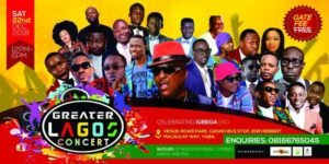 Greater Lagos Concert! Pasuma, Small Doctor, Shina Peters, Malaika, and more @ Rowe Park