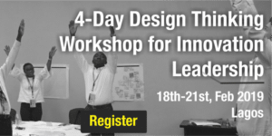 4-Day Design Thinking Workshop for Innovation Leadership, Lagos @ Oriental Hotel