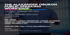 The Alexander Oburoh Public Speaking Workshop @ Ikeja  Lagos,