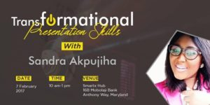 Transformational Presentation Skills @ Smart X Business Hub